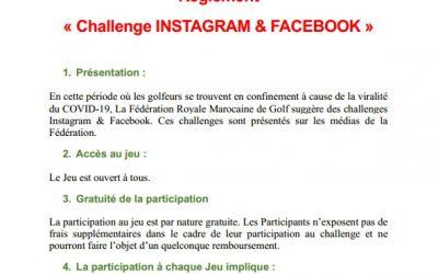 Réglement Challenge #FRMGolf