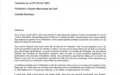 Rapport d'audit fonds de solidarité FRMG
